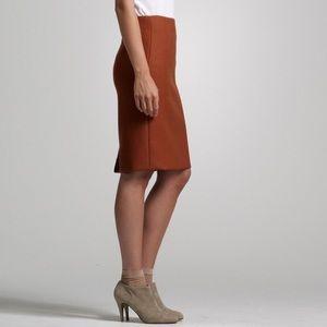 J Crew Prfect Pencil Skirt Orange Rust Wool 2